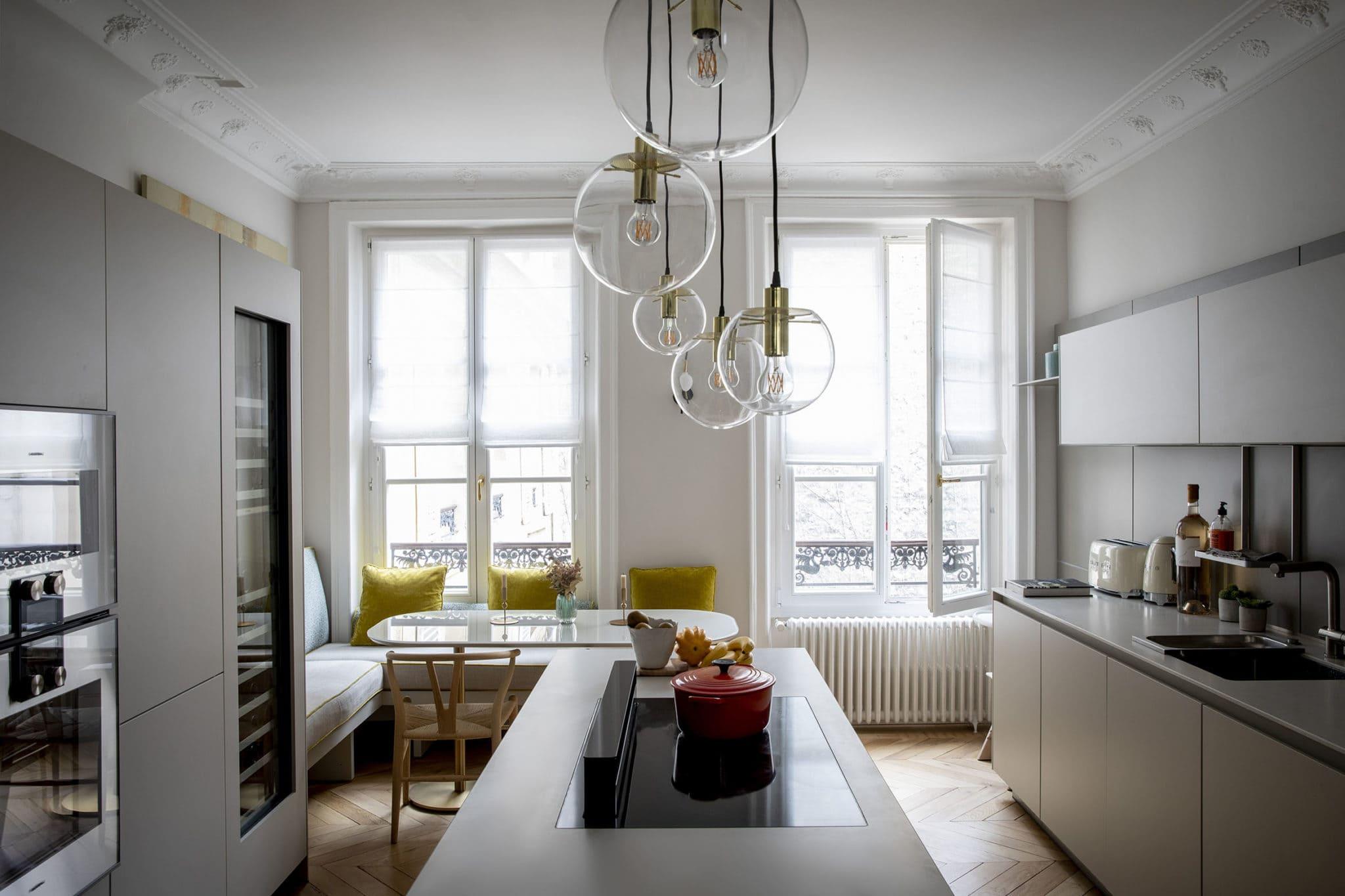 Light design dans une cuisine